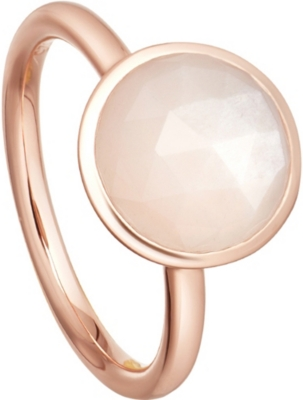 ASTLEY CLARKE Stilla 18ct rose-gold plated moonstone ring