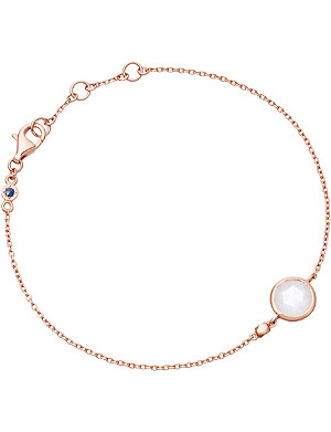 ASTLEY CLARKE Stilla 18ct rose gold-plated moonstone bracelet