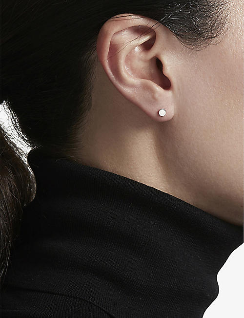 ASTLEY CLARKE Disc Stilla stud earrings