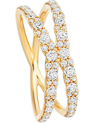 ASTLEY CLARKE: Interstellar 14ct yellow-gold diamond fusion ring