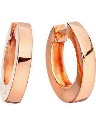 ASTLEY CLARKE: Stilla 18ct rose-gold small hoop earrings