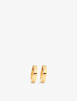 ASTLEY CLARKE Mini Stilla 18ct yellow gold-plated sterling silver hoop earrings