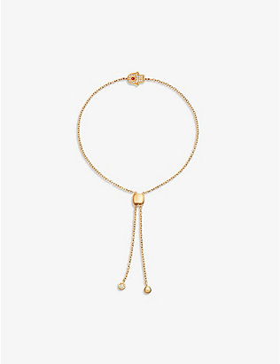 ASTLEY CLARKE: Mini Hamsa Kula 18ct gold-plated sterling silver bracelet