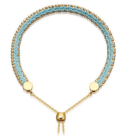 Astley Clarke KULA BIOGRAPHY 18CT YELLOW-GOLD VERMEIL DUCK EGG BRACELET