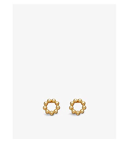 Astley Clarke WOMEN'S BEADED STILLA 18CT YELLOW GOLD-PLATED STUD EARRINGS