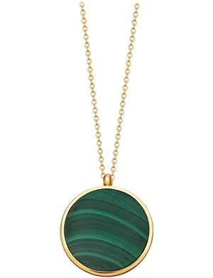 ASTLEY CLARKE Stilla Slice malachite 18ct yellow-gold vermeil locket necklace