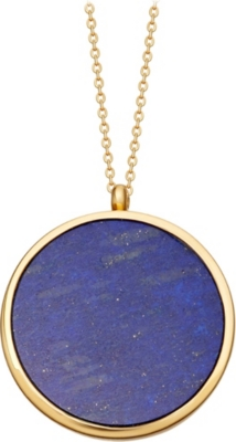 ASTLEY CLARKE Large Lapis Slice Stilla 18ct yellow-gold vermeil locket necklace