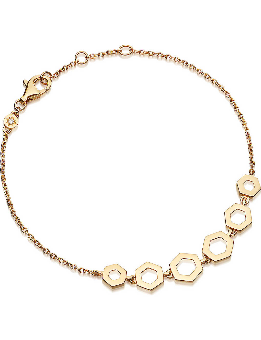 ASTLEY CLARKE - Honeycomb 14ct yellow-gold bracelet