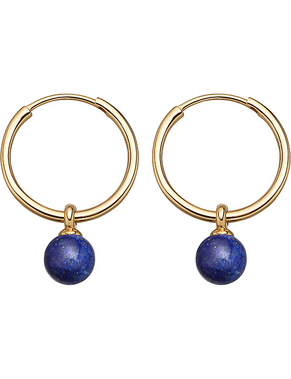 5d532912649bb ASTLEY CLARKE - Vera yellow-gold vermeil & lapis drop hoop earrings ...