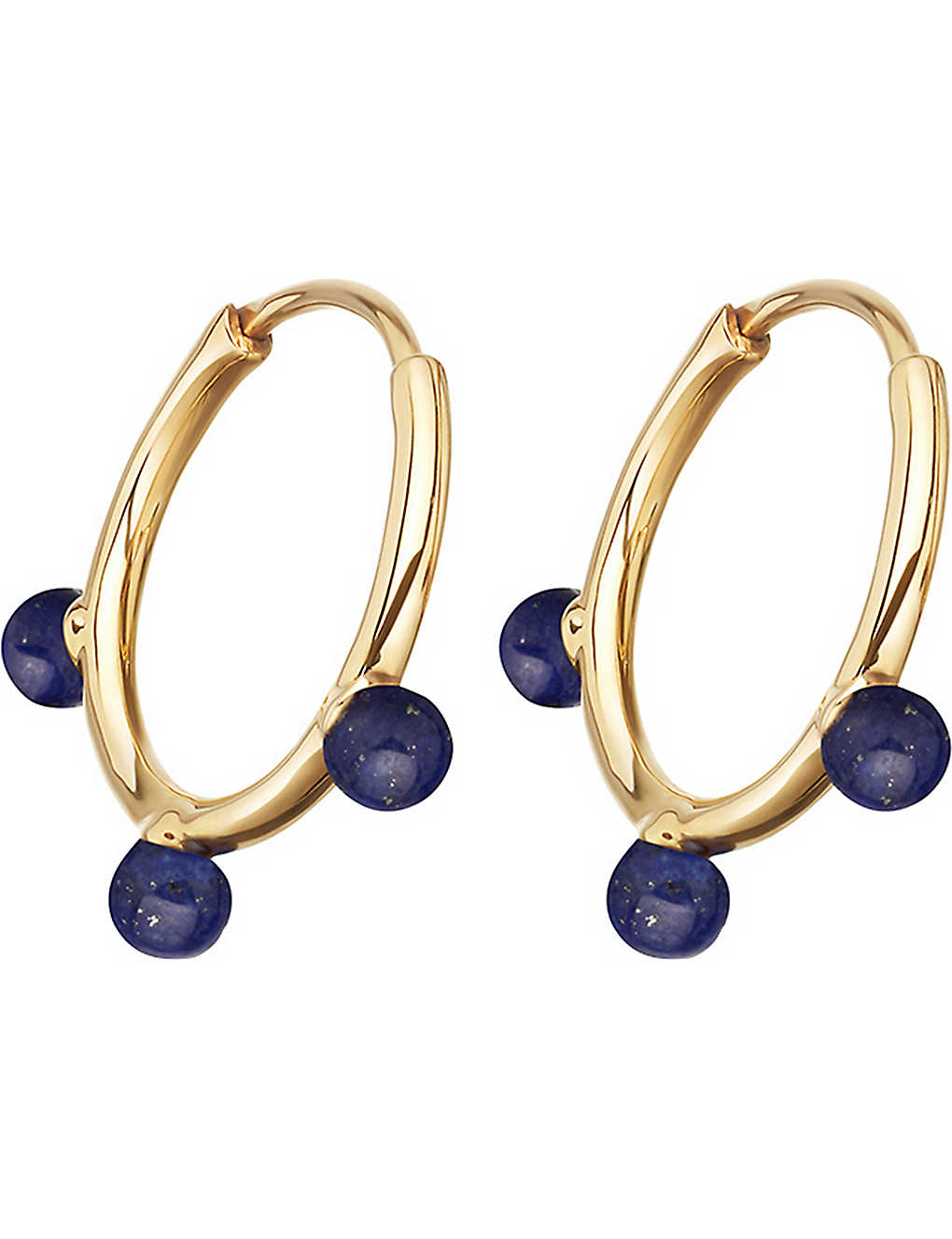 ecc43b7e18b07 ASTLEY CLARKE - Hazel yellow-gold vermeil & lapis hoop earrings ...