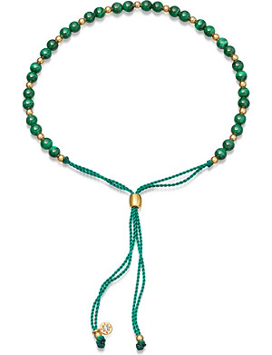 ASTLEY CLARKE Biography Malachite 18ct gold-plated beaded bracelet