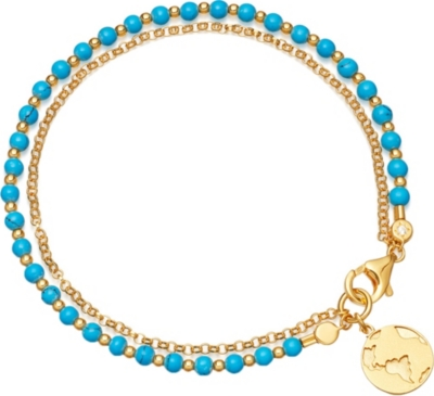 Astley Clarke EARTH BIOGRAPHY 18CT GOLD PLATED STERLING SILVER BRACELET