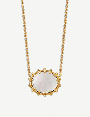 ASTLEY CLARKE Floris 18-carat yellow gold vermeil and Mother Of Pearl pendant