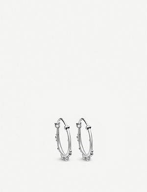 ASTLEY CLARKE Floris sterling silver hoop earrings