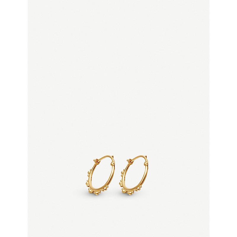 Astley Clarke FLORIS 18CT YELLOW-GOLD VERMEIL HOOP EARRINGS