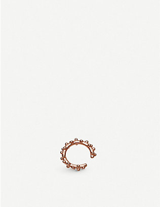 ASTLEY CLARKE: Floris 18ct rose-gold vermeil ear cuff