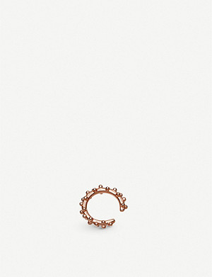 ASTLEY CLARKE Floris 18ct rose-gold vermeil ear cuff