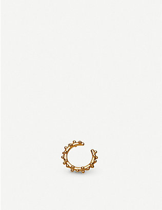 ASTLEY CLARKE: Floris 18ct yellow-gold vermeil ear cuff