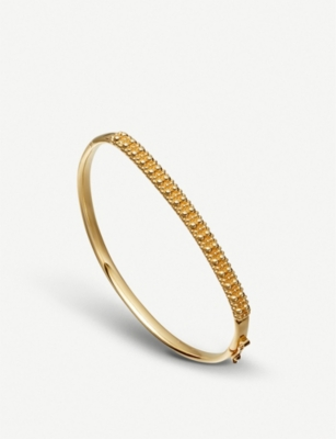 ASTLEY CLARKE Floris yellow-gold vermeil sterling silver Mille Bangle