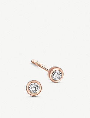 ASTLEY CLARKE Icon Nova 14ct rose-gold and diamond stud earrings