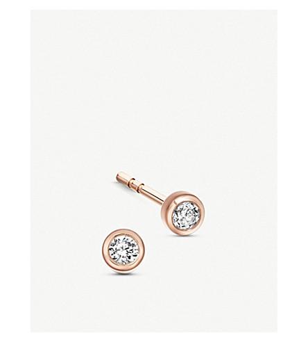 Astley Clarke ICON NOVA 14CT ROSE-GOLD AND DIAMOND STUD EARRINGS