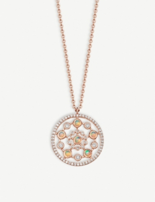 ASTLEY CLARKE Icon Nova medium 14ct rose-gold, opal and diamond necklace