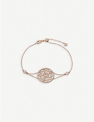 ASTLEY CLARKE: Icon Nova 14ct rose-gold, diamond and opal bracelet