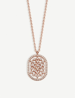 ASTLEY CLARKE Icon Nova 14ct rose-gold and diamond necklace