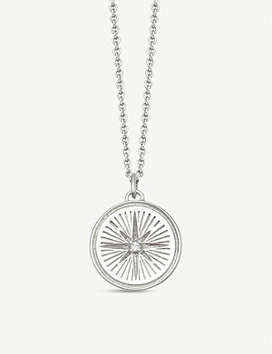 ASTLEY CLARKE Celestial Compass sterling silver and sapphire necklace