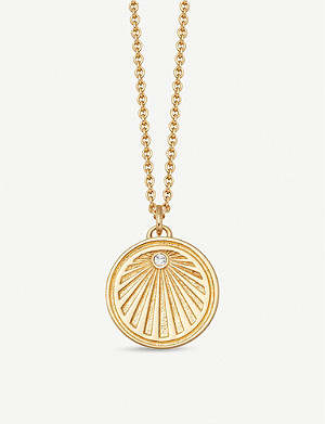 ASTLEY CLARKE Celestial Sunrise 18ct yellow-gold vermeil and sapphire necklace