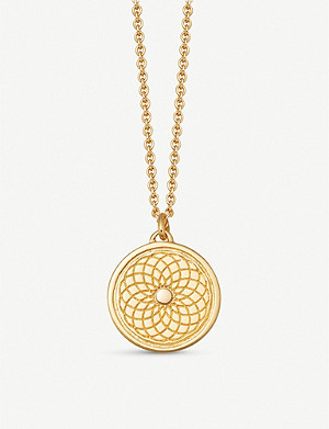 ASTLEY CLARKE Celestial Radial 18ct yellow-gold vermeil necklace