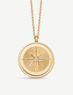 ASTLEY CLARKE Celestial Compass 18ct yellow-gold vermeil and sapphire necklace
