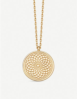 ASTLEY CLARKE: Celestial Radial 18ct yellow-gold vermeil necklace