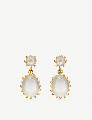 ASTLEY CLARKE Linia 18ct gold-plated silver and moonstone drop earrings
