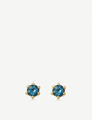 ASTLEY CLARKE Linia 18ct gold-plated silver and topaz stud earrings