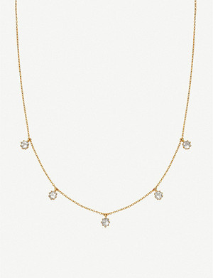 ASTLEY CLARKE Mini Linia moonstone and 18ct gold-plated sterling silver choker necklace