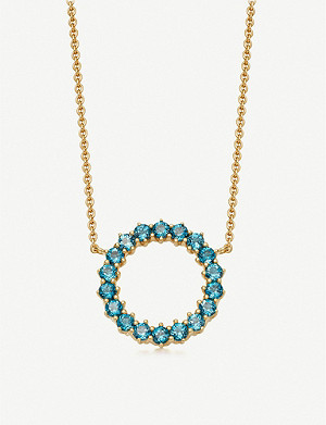 ASTLEY CLARKE Linia 18ct yellow gold-plated London blue topaz pendant necklace