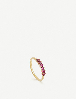 ASTLEY CLARKE Linia 18ct yellow gold-plated rhodolite ring