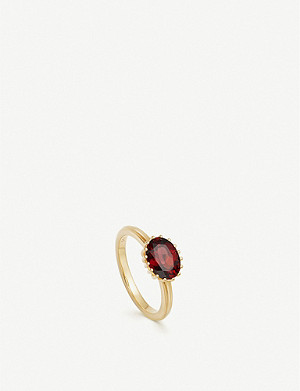 ASTLEY CLARKE Linia 18ct yellow gold-plated large rhodolite ring