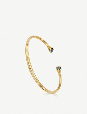 ASTLEY CLARKE Linia 18ct yellow gold-plated London blue topaz open bangle