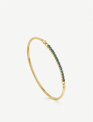 ASTLEY CLARKE Linia 18ct gold plated and blue topaz bracelet