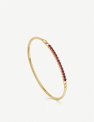 ASTLEY CLARKE Linia 18ct gold plated and rhodolite bracelet