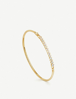 ASTLEY CLARKE Linia 18ct gold plated and moonstone bracelet