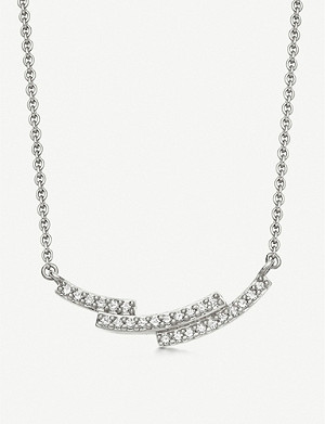 ASTLEY CLARKE Icon Scala 14ct white-gold and pavé-set diamond necklace