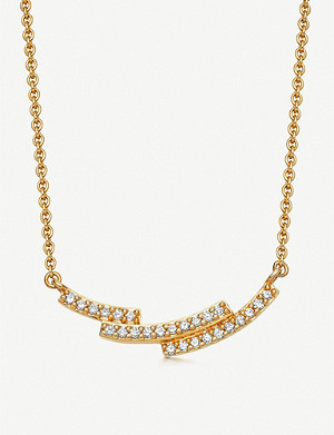 ASTLEY CLARKE Icon Scala 14ct gold and pavé-set diamond necklace