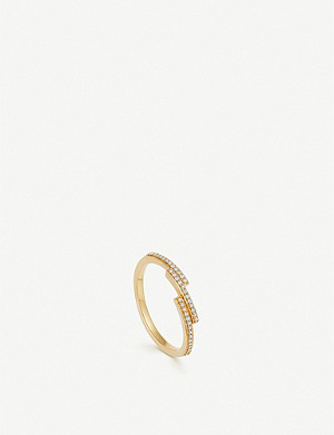 ASTLEY CLARKE Icon Scala 14ct gold and pavé-set diamond ring
