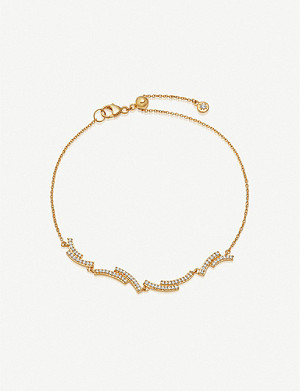 ASTLEY CLARKE Icon Scala diamond and 14ct-gold bracelet