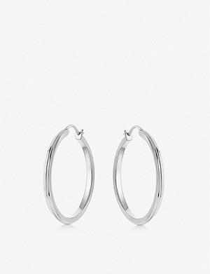 ASTLEY CLARKE Linia sterling-silver hoop earrings
