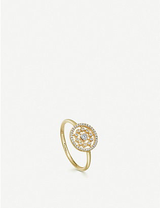 ASTLEY CLARKE: Icon Nova 14ct yellow-gold and diamond ring