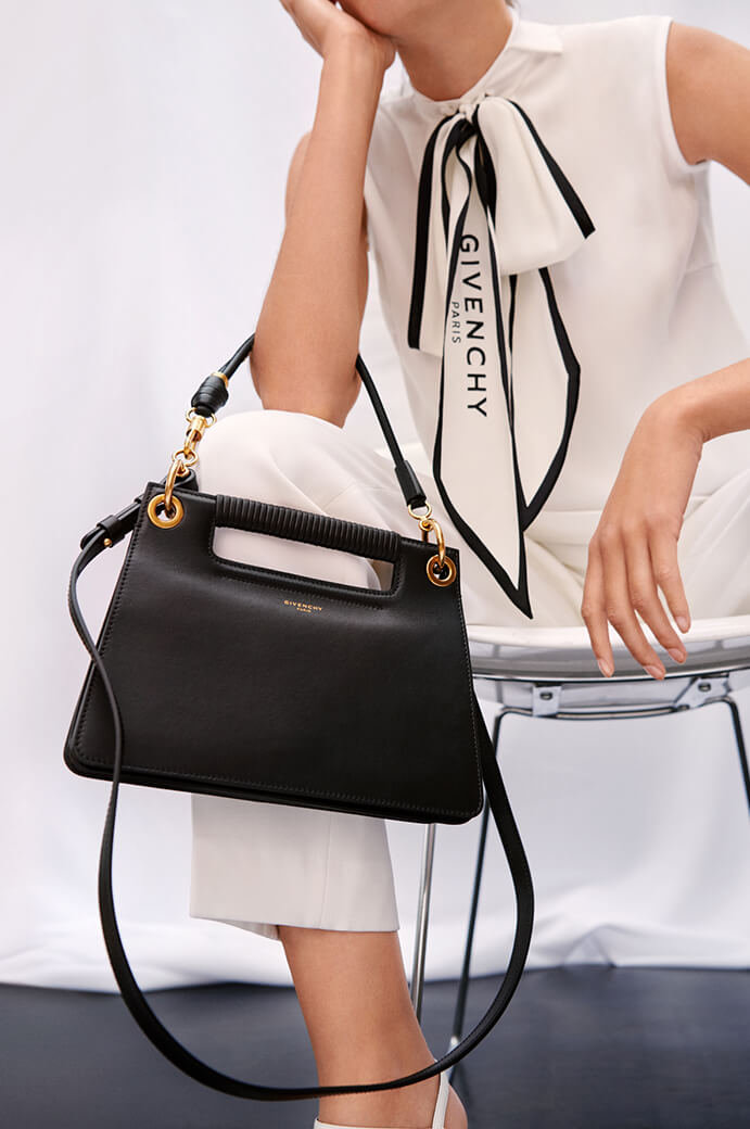 Givenchy bag, dress and trousers